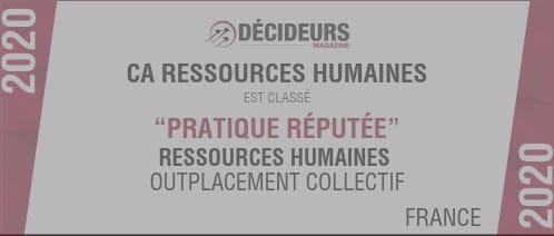 CA Ressources Humaines se classe parmi les meilleurs cabinets RH de France